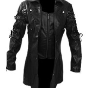 Mens-REAL-Black-Leather-Goth-Matrix-Trench-Coat-Steampunk-Gothic-Van-Helsing-3