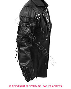 Mens-REAL-Black-Leather-Goth-Matrix-Trench-Coat-Steampunk-Gothic-Van-Helsing-4