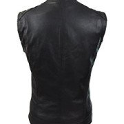 Sexy-Womens-Ladies-Real-BLACK-SHEEP-LAMB-Leather-Bikers-Waistcoat-VestW11-3