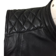 Sexy-Womens-Ladies-Real-BLACK-SHEEP-LAMB-Leather-Bikers-Waistcoat-VestW11-4