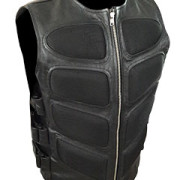 Mens-Sexy-Stylish-SWAT-Style-Real-Black-Leather-Bikers-Waistcoat-Vest-BLUF-S2-1