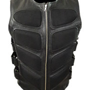Mens-Sexy-Stylish-SWAT-Style-Real-Black-Leather-Bikers-Waistcoat-Vest-BLUF-S2-2