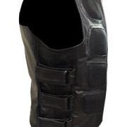 Mens-Sexy-Stylish-SWAT-Style-Real-Black-Leather-Bikers-Waistcoat-Vest-BLUF-S2-3