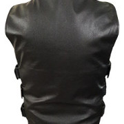 Mens-Sexy-Stylish-SWAT-Style-Real-Black-Leather-Bikers-Waistcoat-Vest-BLUF-S2-4