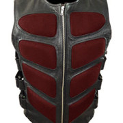 Mens-Sexy-Stylish-SWAT-Style-Real-Black-Leather-Bikers-Waistcoat-Vest-BLUF-S2-6
