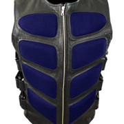 Mens-Sexy-Stylish-SWAT-Style-Real-Black-Leather-Bikers-Waistcoat-Vest-BLUF-S2-9