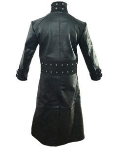 Mens-Real-Black-Leather-Goth-Matrix-Trench-Coat-Steampunk-Gothic-Van-Helsing-T21-3