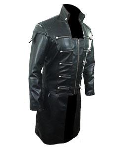 REAL-Black-MEN-Leather-Goth-Matrix-Trench-Coat-Steampunk-Gothic-Van-Helsing-T20-3
