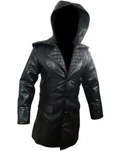 Mens-Real-Black-Leather-Matrix-Goth-Trench-Coat-Gothic-T23-1