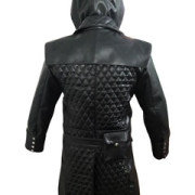 Mens-Real-Black-Leather-Matrix-Goth-Trench-Coat-Gothic-T23-3