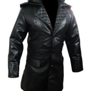 Mens-Real-Black-Leather-Matrix-Goth-Trench-Coat-Gothic-T23-4