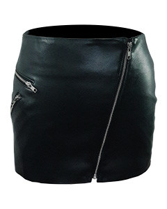 Ladies-Sexy-Real-Genuine-Soft-Sheep-Nappa-Leather-Black-&-Red-Mini-Skirt-SK4-1