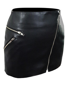 Ladies-Sexy-Real-Genuine-Soft-Sheep-Nappa-Leather-Black-&-Red-Mini-Skirt-SK4-2