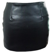 Ladies-Sexy-Real-Genuine-Soft-Sheep-Nappa-Leather-Black-&-Red-Mini-Skirt-SK4-3