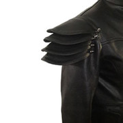 Mens-REAL-Black-Leather-Goth-Matrix-Trench-Coat-Steampunk-Gothic-T24-3