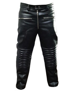 MENS-SEXY-REAL-BLACK-PADDED-LEATHER-MOTORCYCLE-BIKERS-PANTS-JEANS-TROUSERS-J8-1