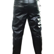 MENS-SEXY-REAL-BLACK-PADDED-LEATHER-MOTORCYCLE-BIKERS-PANTS-JEANS-TROUSERS-J8-2